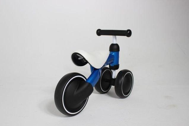 Беговел MIni Bike от 1 года Синий (резиновые колеса)