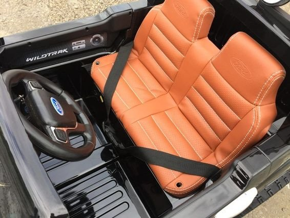 Электромобиль Ford Ranger красный глянец (АКБ 12v10ah, 2х местный, колеса резина, сиденье кожа, пульт, музыка)